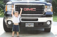 Jackson Loves His New Truck!!!