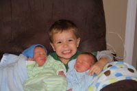 Jackson Loves His Little Brothers